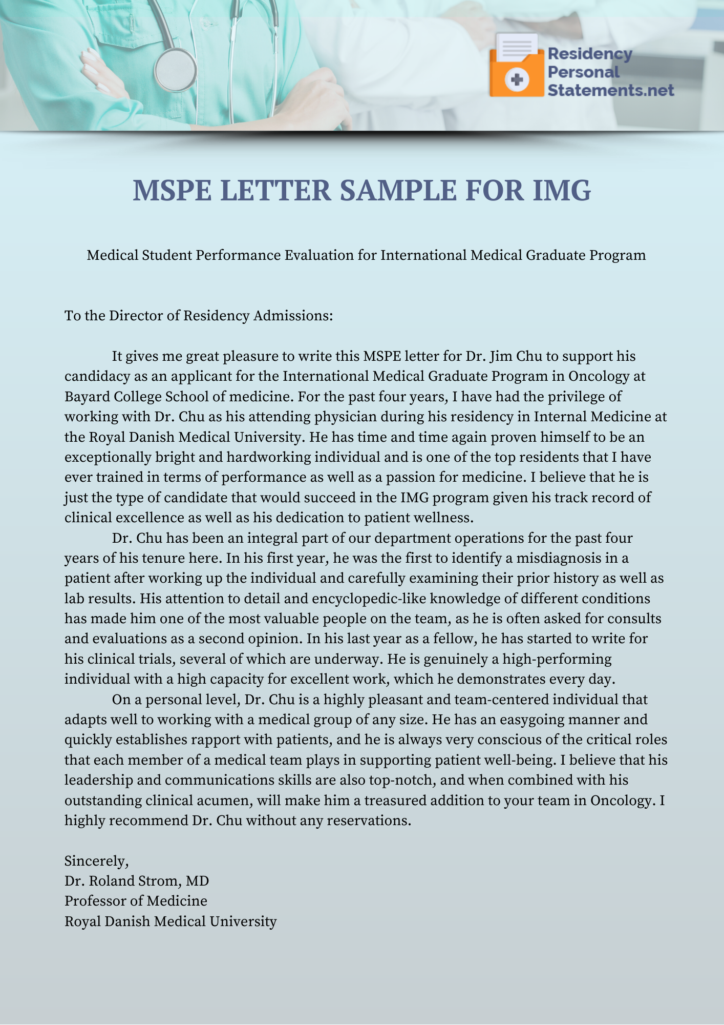 mspe sample for imgs